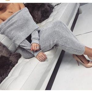 JLUX LABEL Long Sleeve Off Shoulder Dress